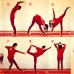 Jógové pozice pro novoluní a úplněk, mudry a sestavy