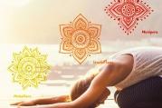 Čakrová jóga - první, druhá a třetí čakra