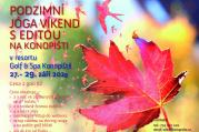 Podzimní jóga víkend na Konopišti s Editou