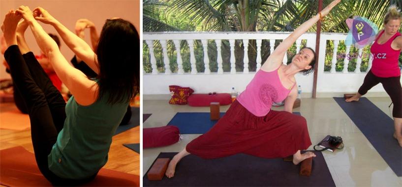 Řada jógových pozic stimuluje přímo první a druhou čakru