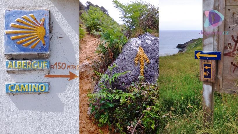 Žluté šipky vedou poutníky do španělského Santiaga