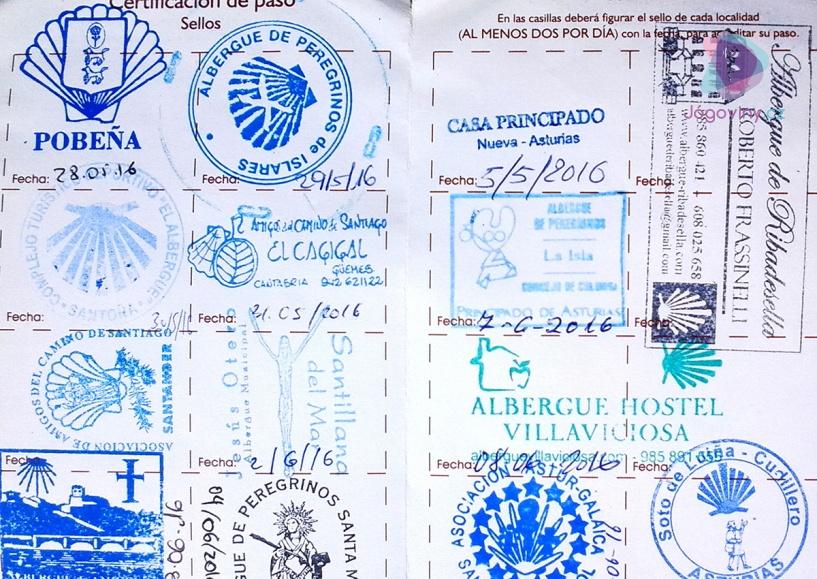 Průkaz poutníka - Credencial del Pergrino